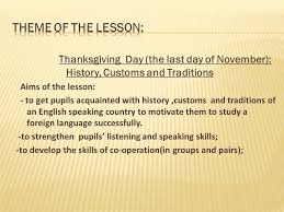 thanksgiving day the last day of november history customs and