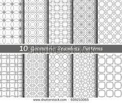 set 8 seamless islamic patterns arabian stock vector 394389730