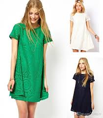 2015 spring new women lace floral casual short dress a lined loose