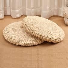 corn bran straw seat cushion handmade round futon cushions