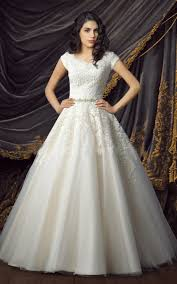 aliexpress com buy lace tulle ball gown modest wedding dresses