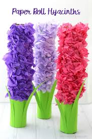 hyacinth flower paper roll hyacinth flower craft for kids the resourceful