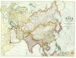Asia And Europe Map by 1921 Map Of Asia And Adjoining Europe By National Geographic