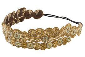 gold headbands added appeal beautiful beaded headbands