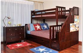 Bunk Bed Stairs With Drawers Brown Wooden Bunk Beds With Stairs And Desk White Mattress