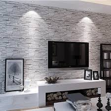 livingroom wallpaper best 25 brick wallpaper living room ideas on living