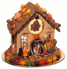 make a thanksgiving gingerbread house