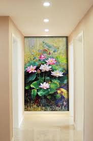 Paintings For Living Room by Modern Art Canvas Chinese Lotus Painting Flowers Paintings For