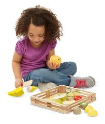 amazon com melissa u0026 doug cutting fruit set wooden play food