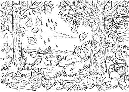 autumn fall first day coloring page 426878 coloring pages for