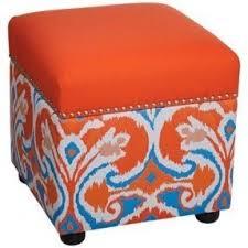 Orange Storage Ottoman Orange Storage Ottomans Foter