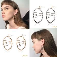 human earrings hollow human cutout dangle drop earrings deco abstract