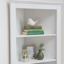 White Corner Bookcase Corner Bookcases Bookshelves Hayneedle