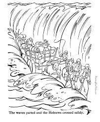 Moses Parting The Red Sea Coloring Page Many Interesting Cliparts Bible Coloring Pages Moses