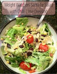 weight watchers santa fe salad with chili lime dressing only 3