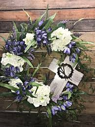 spring wreath mother u0027s day gift memorial wreath hydrangeas and