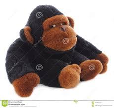 isolated gorilla stuffed animal stock images image 13799214