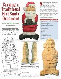 carving santa ornament wood carving patterns woodarchivist