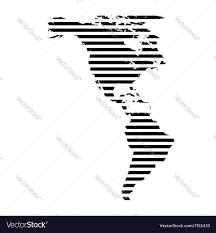 North America And South America Map by Geo Map Of Americas North America Vector Map Stock Photography