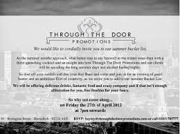 through the door promotions launch party