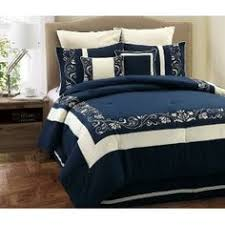 Navy Blue Bedding Set Comforters Navy 7 King Set By Lush Decor Comforter