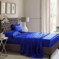 Royal Bed Frame Royal Blue Silk Flat Sheet