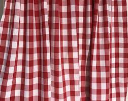 red check curtains etsy
