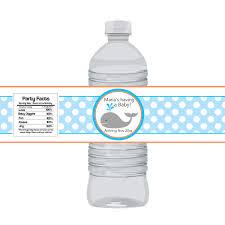 water bottle labels for baby shower best shower
