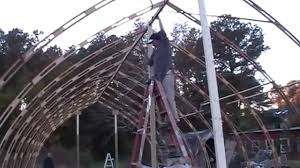 arched cabins al u0027s gothic arch greenhouse project youtube