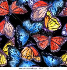 abstract pattern butterfly realistic watercolor seamless pattern butterfly floral stock