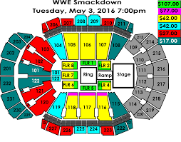 at t center seating chart wwe brokeasshome com wwe smackdown sprint center