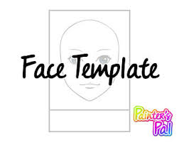 face template etsy