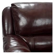 Maroon Leather Sofa Theodore Brown Power Motion Leather Sofa W Right Left Recliners