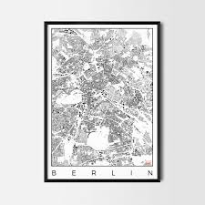 Map Poster Berlin Map Poster City Art Posters And Map Prints
