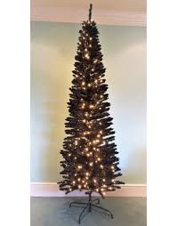buy slim pre lit slimline artificial trees