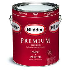 glidden premium 1 qt pure white flat interior paint gln9011 04