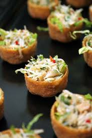 crab canapes thepassionatecook crab salad croustades