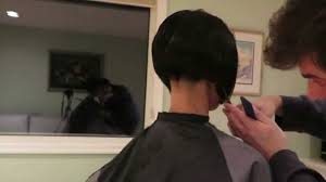 layered buzzed bob hair new year angled bob haircut and buzzed nape youtube