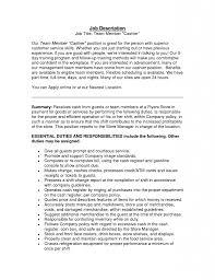 Cashier On Resume Duties Cashier Duties And Responsibilities For Resume Cashier Resume