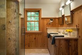 bathroom trim ideas bathroom farmhouse with restored beams wood