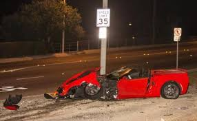 corvette c7 convertible c7 corvette stingray convertible hits a parked car in