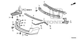 honda odyssey rear bumper oem 2017 honda odyssey 5 door rear bumper parts hondapartsonline