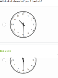telling time half hour tell time to hour or half hour practice khan academy