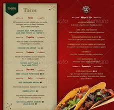 takeout menu template restaurant menu template