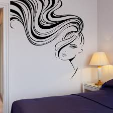 popular sexy women decals buy cheap lots from hair beauty salon long girl sexy woman mural decal wall stickers haircut hairdresser spa stylist