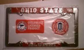 ohio alumni license plate frame ohio state alumni chrome license plate frame ebay