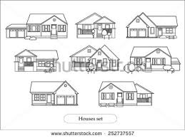 houses drawings set houses drawings stock photo photo vector illustration