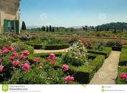 the boboli gardens in florence tuscany editorial stock photo