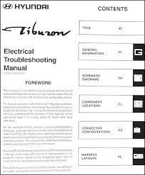 2001 hyundai tiburon manual 2001 hyundai tiburon electrical troubleshooting manual original