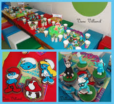 102 smurf party images birthday party ideas